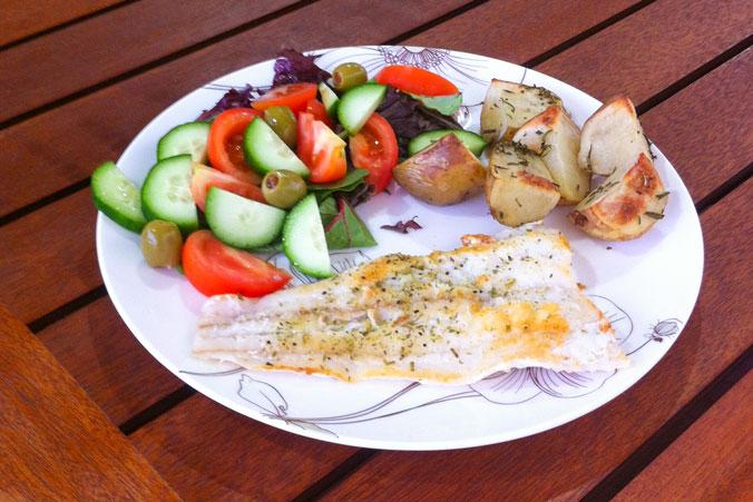 Fish-and-salad