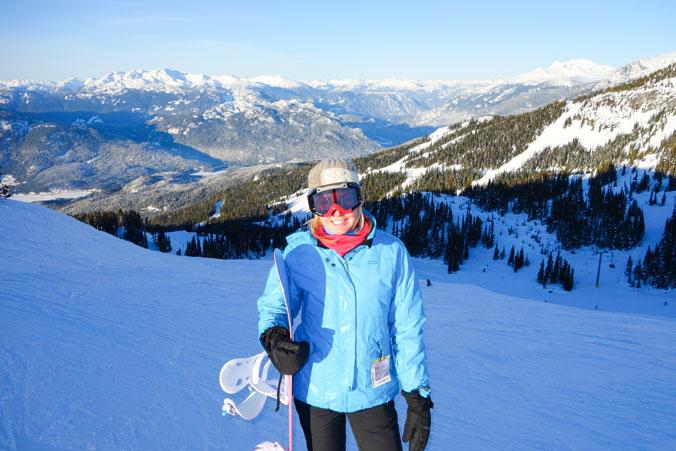 In Whistler, Canada, my favourite snowboard location so far.