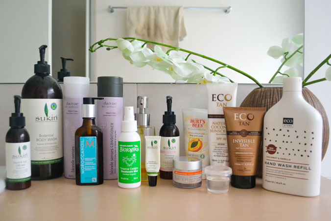 My natural skincare products