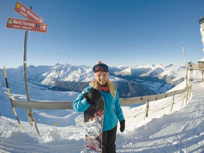 Snowboarding Davos