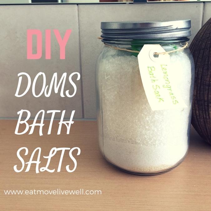 Make your own DOMS bath salts