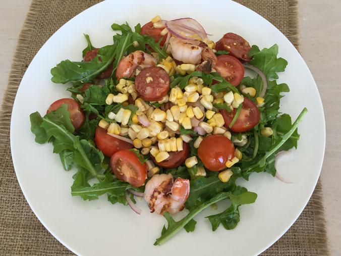 Prawn-and-chorizo-salad