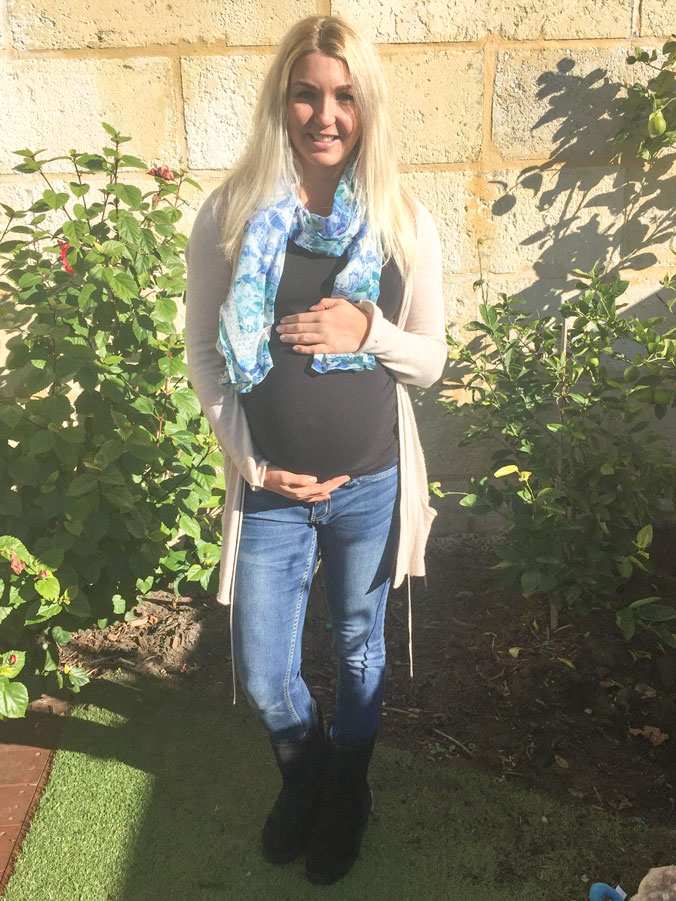 The last photo I had taken of me with my bump. This was taken 4 days before Summer was born.